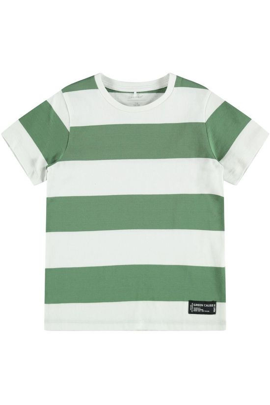 Name It T-Shirt Nkmsandvo Vert/Blanc Cassé