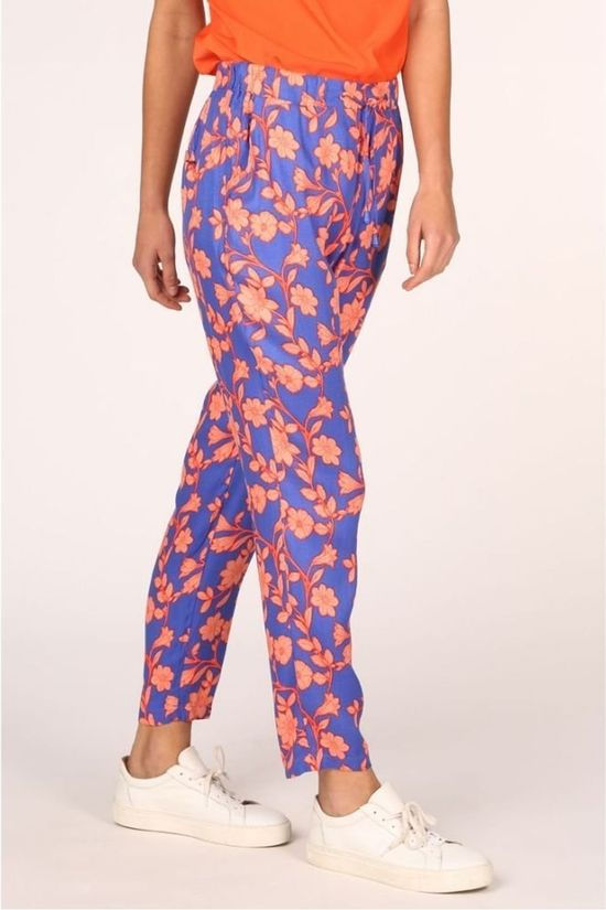 Vila Joy Trousers Kinshasa-L-39-C royal blue/light pink