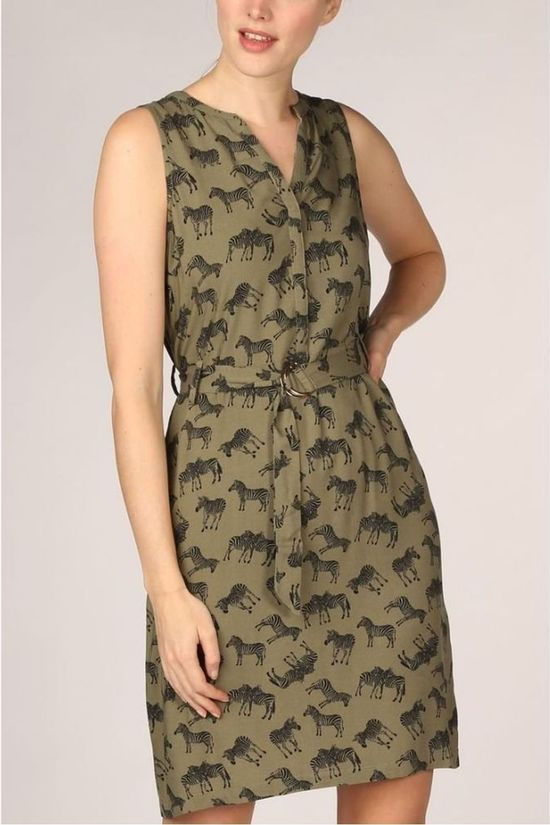 Vila Joy Dress Lyon-L-50-D mid khaki/black