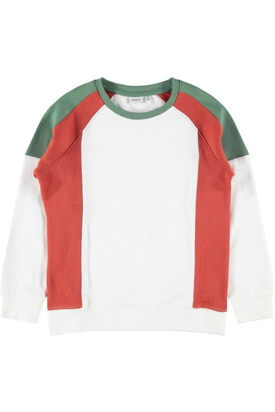 Name It Pullover Nkmsneelo  Box Bru green/off white