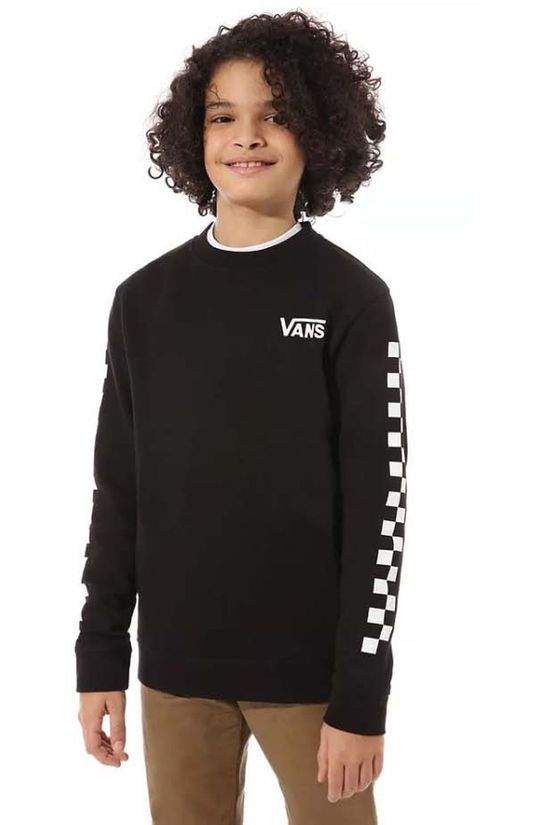 Vans Pullover By Exposition Check Crew Boys black