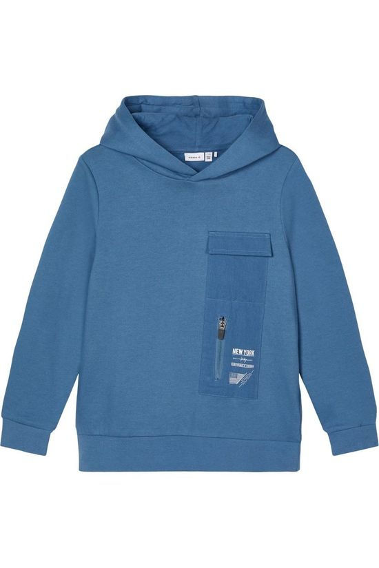 Name It Pullover Nkmraimo Ls W. Hood Bru mid blue