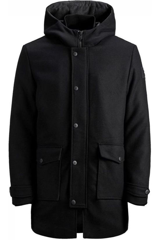 Jack & Jones Manteau Jcovegas Wool Jacket Junior Noir