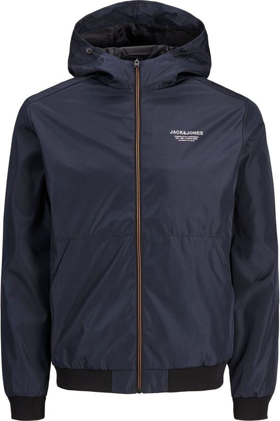 Jack & Jones Jas Jjeseam Jacket Hood Jr Donkerblauw