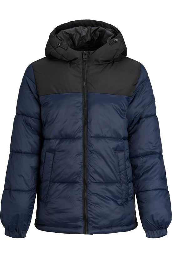 Jack & Jones Coat drew Puffer Hood Jr dark blue/black