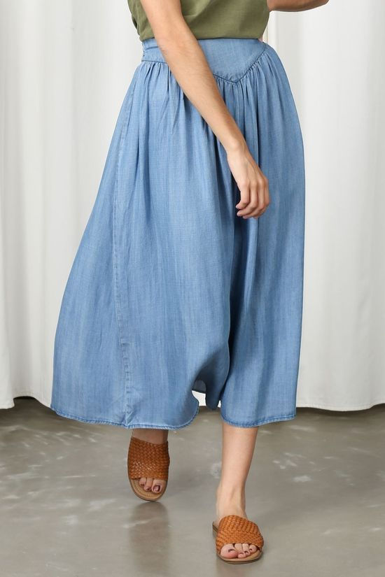 B.Young Skirt Bylana Long mid blue