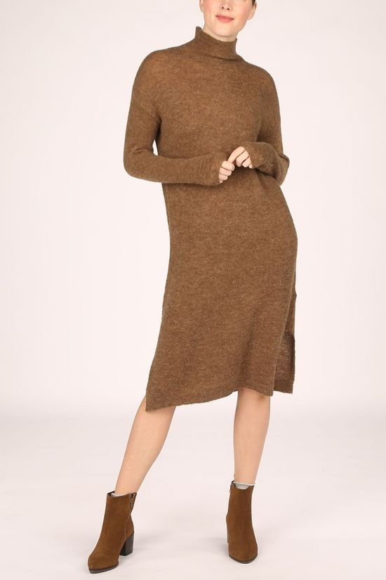 Moss Copenhagen Dress Calma Alpaca brown