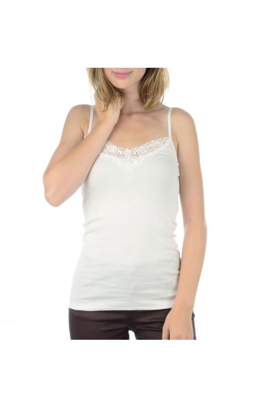 Vero Moda Basics T-Shirt New Ratlis Lace Singlet off white
