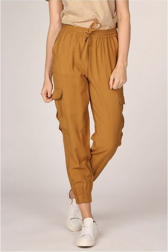 Soft Rebels Broek SbMythae Ankle Kameelbruin