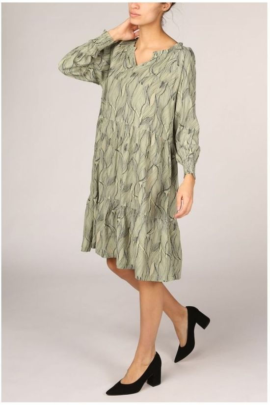 Soft Rebels Robe SbMove Ls Vert Clair/Ass. Fleur