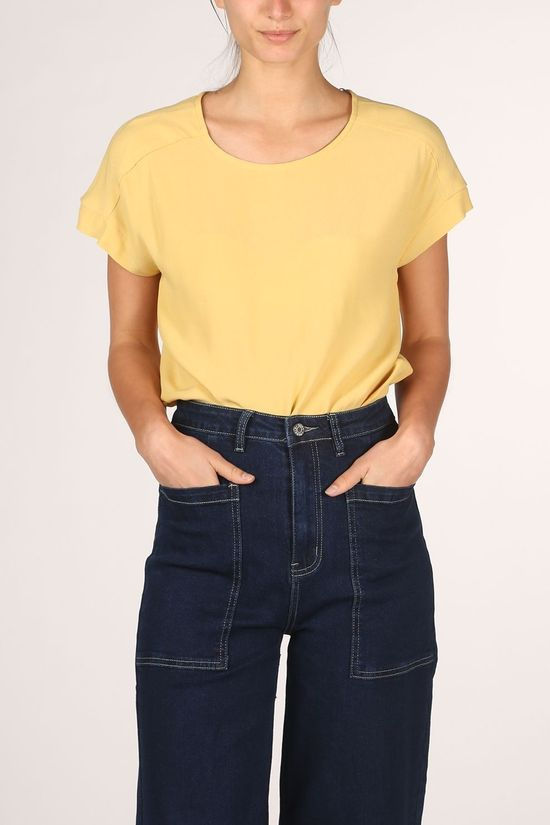 Soft Rebels Blouse SbQuinn Ss Jaune Clair