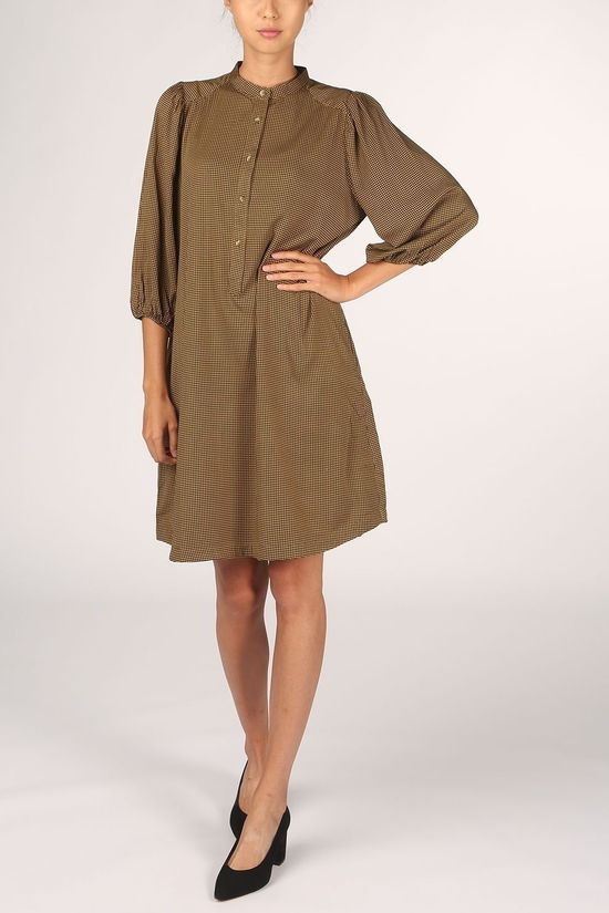 Soft Rebels Dress SbFilucca 3/4 Dress Mid Khaki/Dark Grey Marle