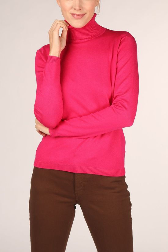 Soft Rebels Zara Rollneck Fuchsia