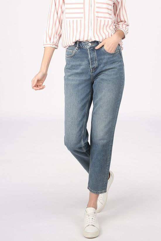 Selected Jeans Slf Frida Hw Mom Midblue Bleu Moyen (Jeans)