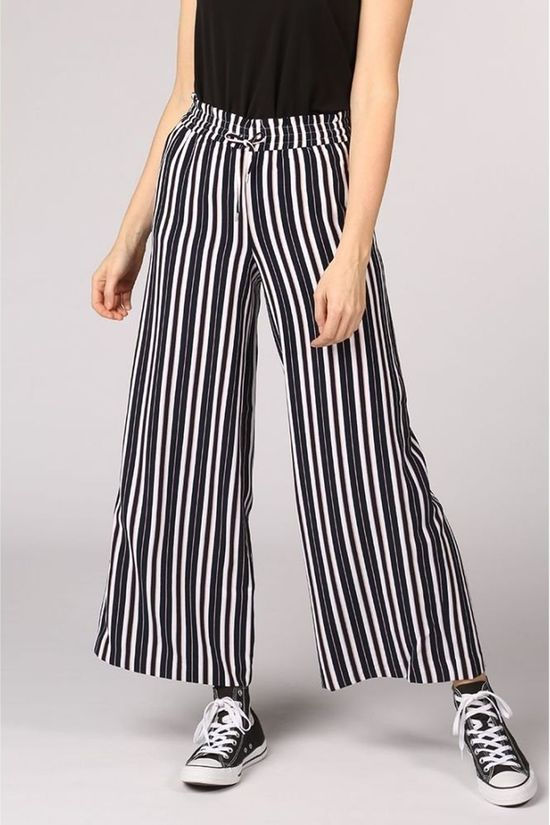 Only Trousers piper Mw Wide Leg Pants Tlr dark blue/off white