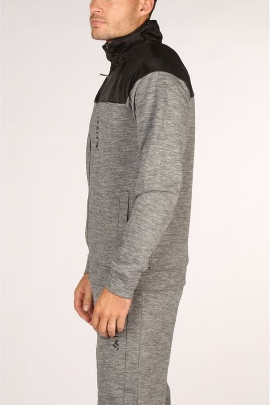 First Pullover Dylan Highneck Ls Zip light grey