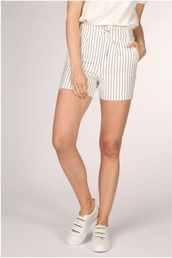 Only Short poptrash Rush Stripe Shorts Pnt Gebroken Wit/Lichtblauw