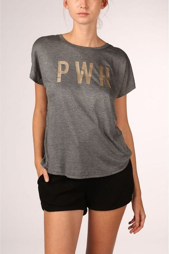 Only Play T-Shirt nigella Loose Burnout Ss Dark Grey Mixture