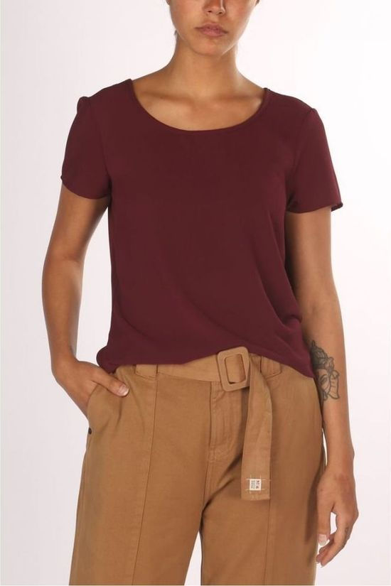 Vero Moda Basics Blouse Sasha Ss Bordeaux / Marron