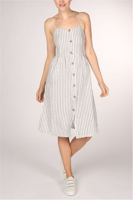 Only Dress luna Strap Stripe Dnm Qy T off white/light blue