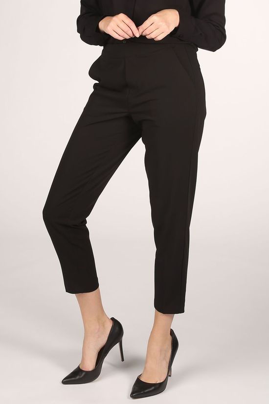 Object Trousers Cecilie Mw 7/8 black