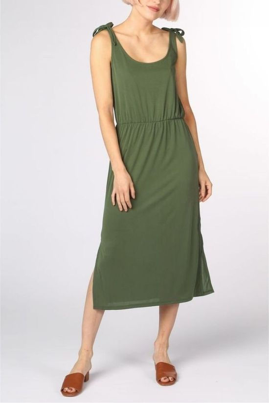 Object Dress Objashley S/L I.103 mid khaki