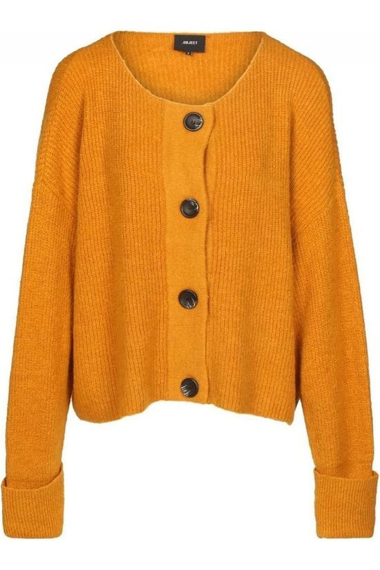 Object Cardigan Tianna Ls Short Cardifgan dark yellow