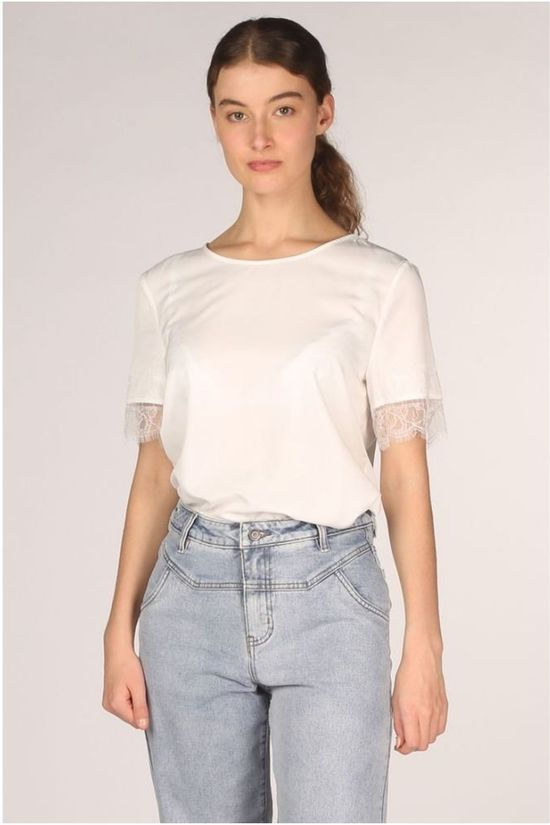 Object Shirt Eileen Sleeve Lace Noos white