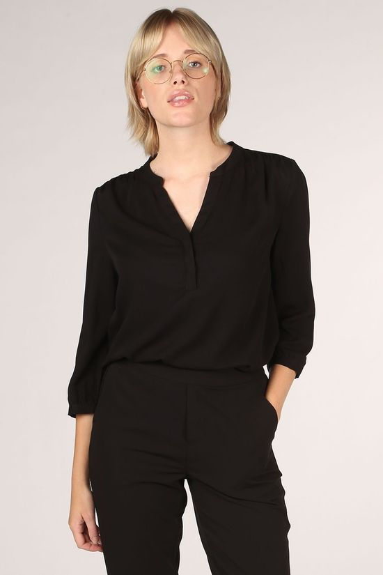 Object Shirt Baya 3/4 Vneck Blouse black
