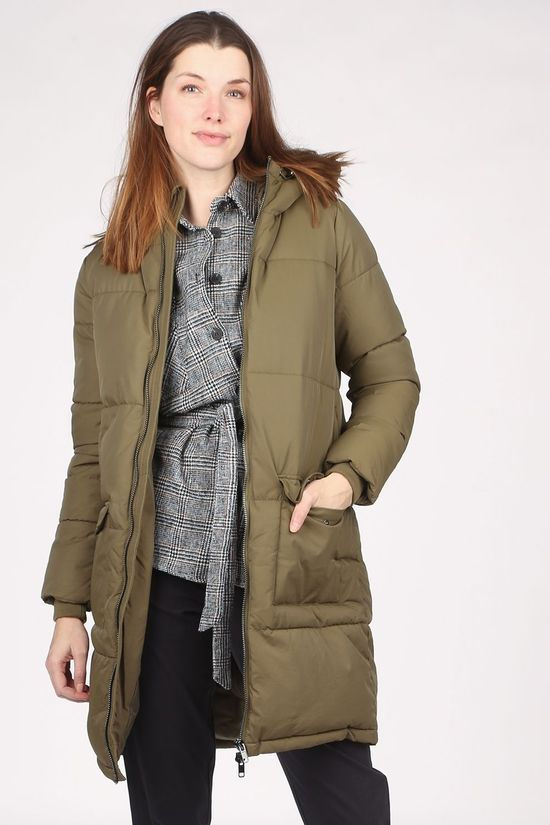Object Coat Zhanna Long Jacket mid khaki