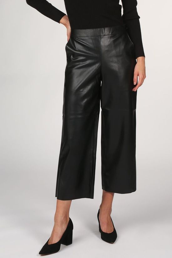 Vila Trousers pen Rwrx Cropped Wides - Noos black