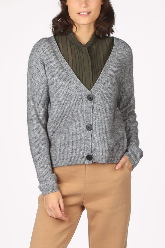 Object Cardigan holly L/S light grey