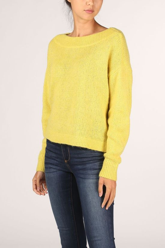 Vila Pullover good Boat Neck Knit L/S/L yellow