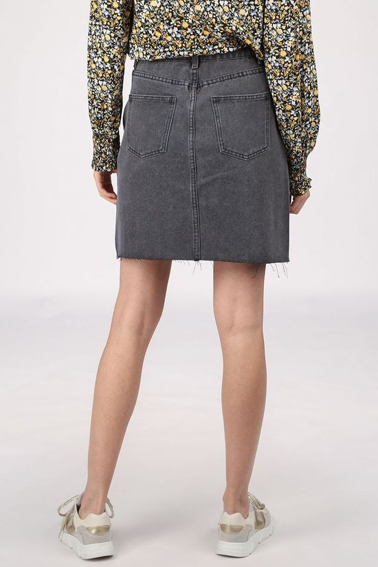 Vila Skirt Vicaniana Denim/Des Dark Grey (Jeans)
