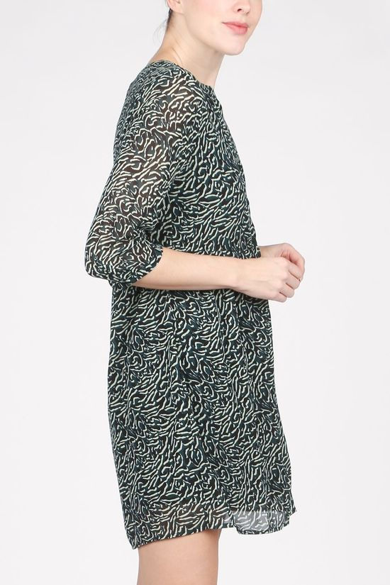 Vila Dress Vinema 3/4 black/light green