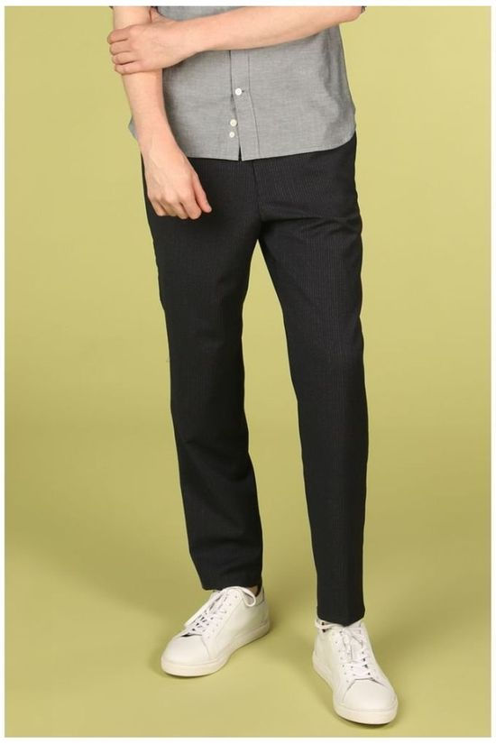 Matinique Trousers Lance Twin Stripe dark blue/light grey