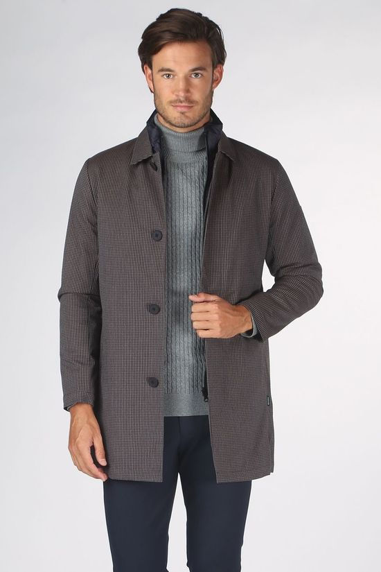 Matinique Coat Maphilman Mid Grey/Ass. Geometric