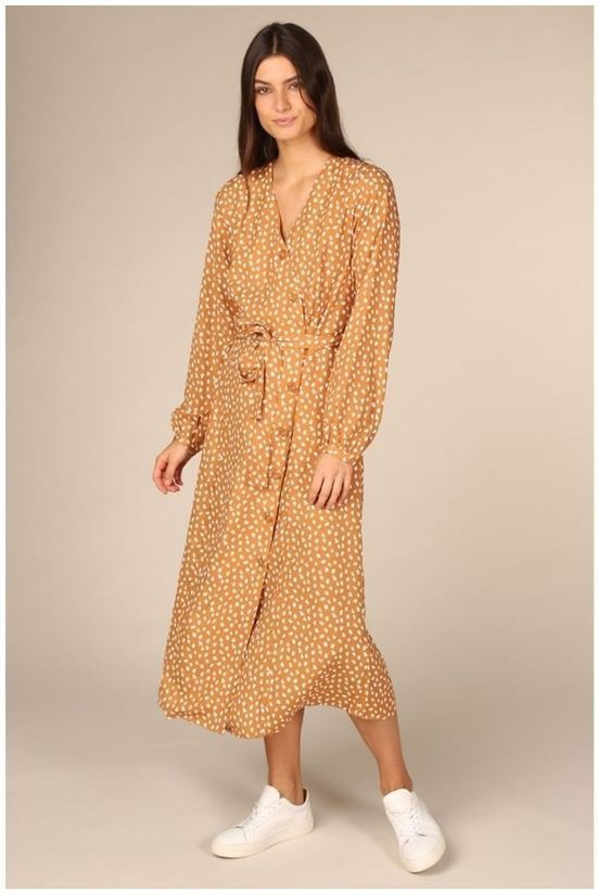 B.Young Dress Byjallia Wrap camel/white