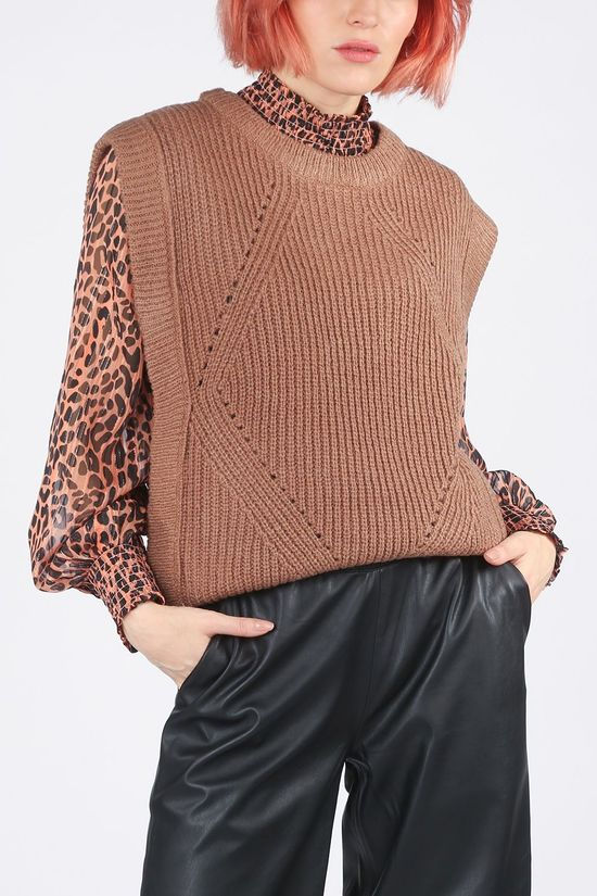 Saint Tropez Pullover 30511234 brown