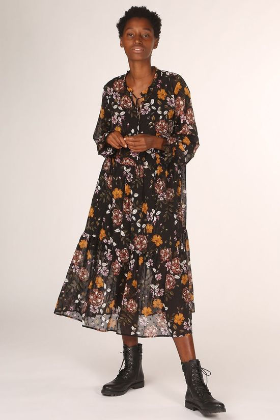 B.Young Robe Byginni Dress - Noir/Ass. Fleur