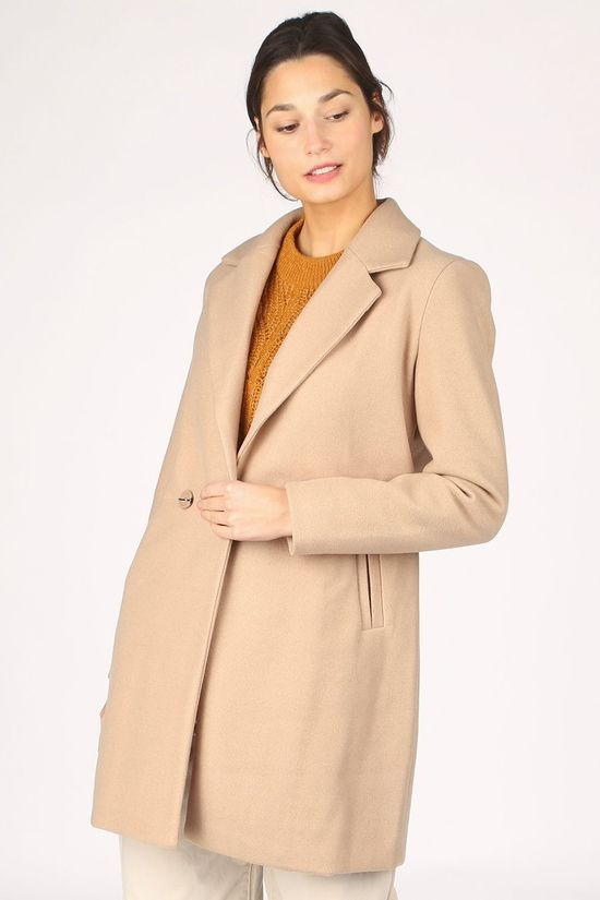 Ichi Coat jannet Ja Camel Brown