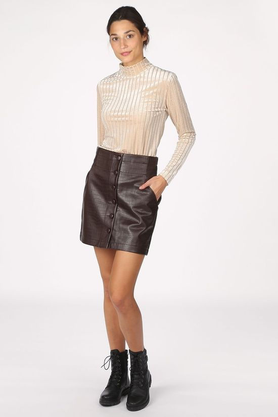 B.Young Skirt Bycroco dark brown