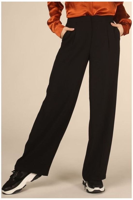 Selected Trousers Tinny Mw Wide Nos black
