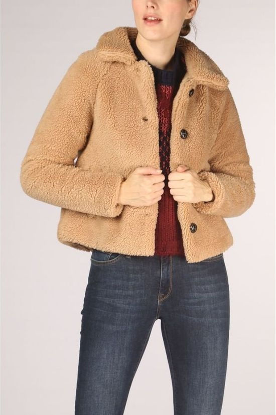 Only Blazer Emily Teddy mid brown