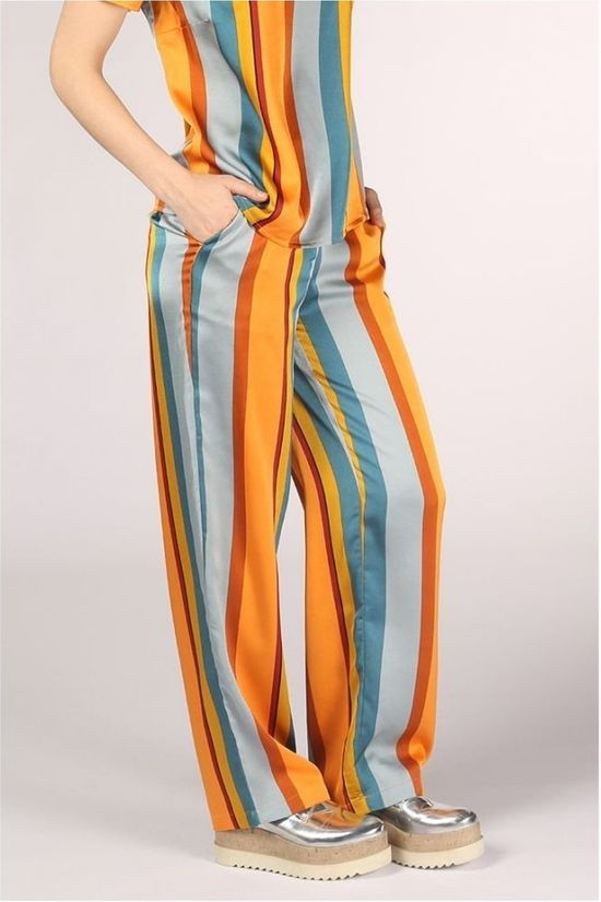 Vila Trousers aliv Blume /Wa light green/orange