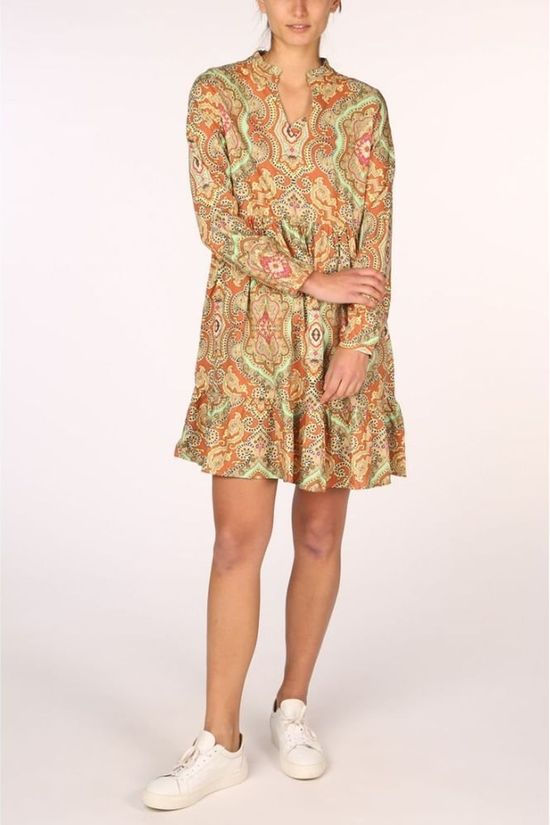 Only Dress Onlbetty L/S rust/light yellow