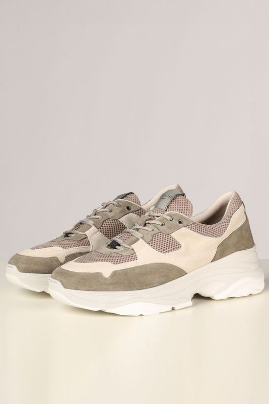 Selected Sneaker Slhgavin Trainer Blanc/Kaki Clair