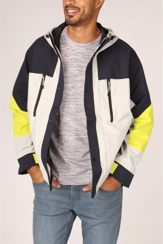 Jack & Jones Coat Jcosteven Jacket off white/dark grey