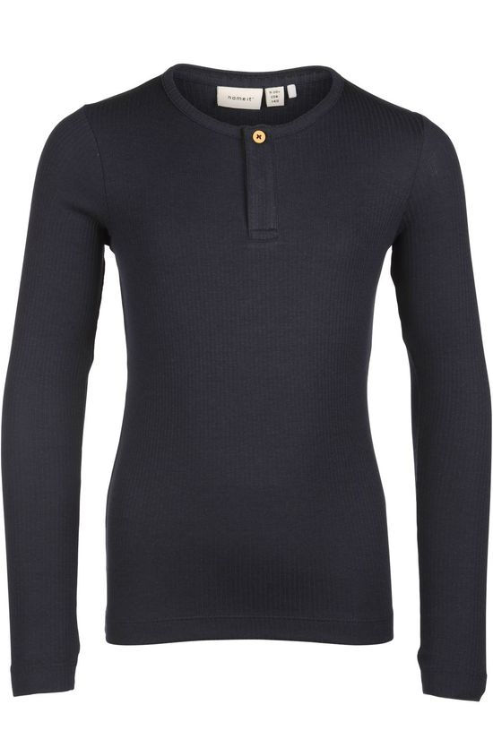 Name It T-Shirt balille Ls Slip Donkerblauw