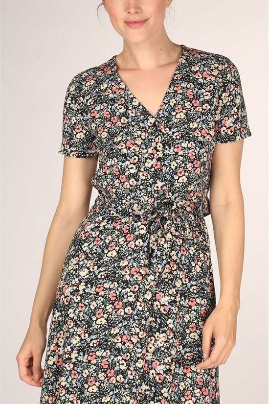 Vero Moda Shirt Simply Easy  black/Assortment Flower